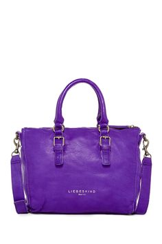 A shock of purple for your everyday satchel.