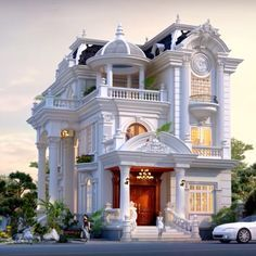 Classic House Exterior, Classic House Design, Dream House Exterior, Building Design, Building A House, House Outside Design, Small House Exteriors, Architectural House Plans, French Style Homes
