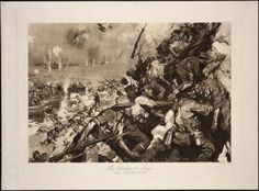 Cuneo, Cyrus Cincinatto, 1879-1916 :The landing at Anzac. Anzac Day, April 25 1915. Painted by C. Cuneo 1915