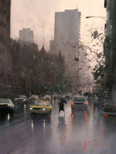 Joseph Zbukvic : is one of the finest master watercolor painters in the world; his watercolor painting instruction workshops sell out w. Watercolor City, Watercolor Artists, Watercolor Landscape, Watercolor Paintings, Watercolours, Painting Art, Urban Landscape, Landscape Art, Landscape Paintings