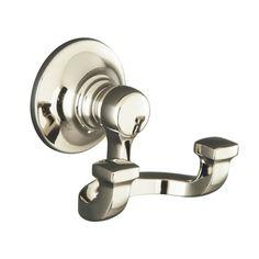 Tub And Shower Faucets, Shower Tub, Gold Robe Hooks, Kohler Bancroft, Bathroom Towel Hooks, Gold Bathroom, Downstairs Bathroom, Bathroom Fixtures, Windows