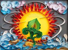 quilling, quilling art, paper, paper art, design. wall art, quilling wall art, love,  quilling art, birth, birthday, air, ground, water, Etsy, рождение, четыре стихии, вода, огонь, воздух,квиллинг, бумага, дизайн