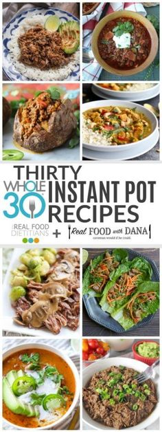 Rounding up 30 Whole30 Instant Pot recipes so that you can get dinner on the table fast! Includes chicken, beef & pork recipes. Clean Foods, Clean Recipes, Whole Food Recipes, Clean Eating Grocery List, Grocery Lists, Ethiopian Lentils, Coconuts, Whole Thirty, Stuffed Whole Chicken