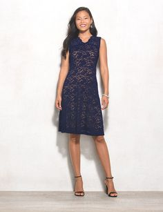 Because lace never goes out of style, this chic navy number is perfect for any special occasion. Complete your look with a neutral shoe, grab…
