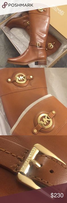 MK boots Brand new with box ! Never worn, I bought them for my mom and the boots were to small😥 AUTHENTIC 100% I bought them at my local Dillard's. Price is negotiable let me know on your offers if it's decent please. MICHAEL Michael Kors Shoes Winter & Rain Boots