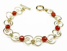 Damali Gold Spiral Carnelian SACRAL Chakra Bracelets - SMALL 6.5 In. Damali, http://www.amazon.com/dp/B006KL9XLK/ref=cm_sw_r_pi_dp_5QgPqb0AYQGK3