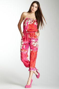 Classique Strapless Tie Waist Jumpsuit by Classique on @HauteLook