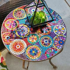 Tile boho table