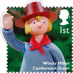 Classic Children's TV 1st Stamp (2014) Windy Miller - Camberwick GReen