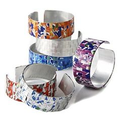 Recycled Soda Can Bracelets