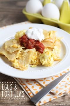 Eggs and tortillas -