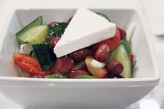 A rustic Greek salad ($6.95) from Frankies burger (994 Queen St West)