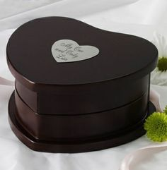 Espresso Heart Swivel Jewellery Box
