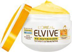 Elvive Re-Nutrición Jalea Real Crema Tratamiento. Nutrición intensa y duradera. Cuerpo, sedosidad y brillo.