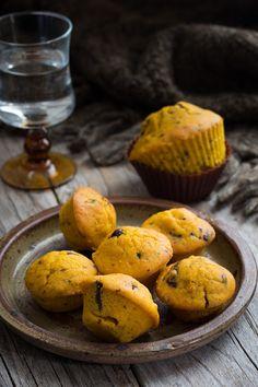 Muffins au potimarron et au chocolat