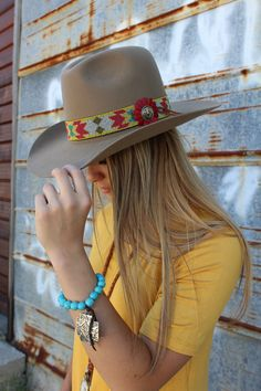 54b39ee879f Rambler Collection 100% Fur Felt with Southwest Beaded Hatband