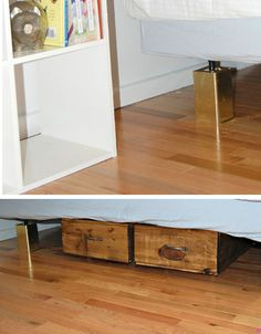 DIY Bling Bed Risers | Click Pic for 25 DIY Small Apartment Decorating Ideas on a Budget | Organization Ideas for Small Spaces