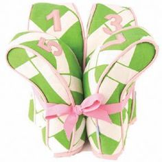 Pink & Green Head Covers