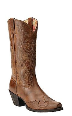 Girls Kids Brown Fuchsia Cross Sequins Inlay Leather Western Cowboy Boots Snip