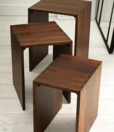 I like style of these and they are made in Vermont by a company supporting sustainable forestry and eco-friendly finishes.  That is hard in furniture design.