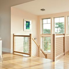 Wood And Cable Railing Design Ideas, Pictures, Remodel and Decor