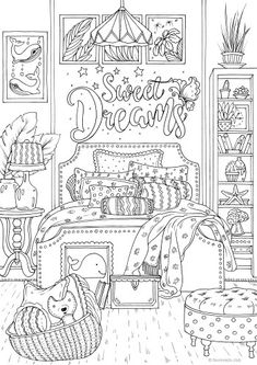 Inspirational Messages Printable Adult Coloring Pages from Favoreads Printable Adult Coloring Pages, Cute Coloring Pages, Fairy Coloring, Flower Coloring Pages, Disney Coloring Pages, Animal Coloring Pages, Coloring Pages To Print, Free Coloring, Coloring Books