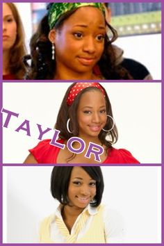Taylor in High School Musical 1, 2, and 3