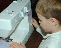 Pre beginner sewing lessons-Level 2 include activities and projects to teach kids, 7-9 years old, some basic sewing skills such as mending, buttons and introduction to the sewing machine.