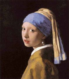 Cross stitch chart: Girl with a Pearl Earring - Johannes Vermeer