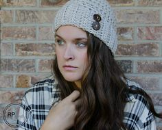 Andy Button Hat - Free Crochet Pattern - Rescued Paw Designs