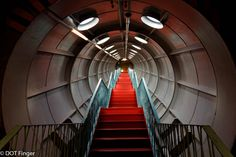12th of February - Brussels (Belgium) : Atomium tunnels, a walk in a futuristic environment