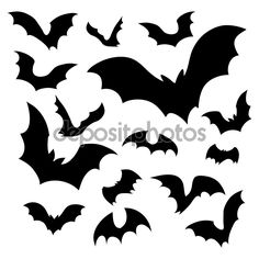 Find Big Set Black Silhouettes Bats Vector stock images in HD and millions of other royalty-free stock photos, illustrations and vectors in the Shutterstock collection. Thousands of new, high-quality pictures added every day. Bat Stencil, Stencils, Traditional Tattoo Old School, Traditional Tattoos, Neo Traditional, American Traditional, Bat Vector, Cartoon Bat, Bat Silhouette