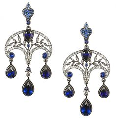 Reviving Russian tradition Axenoff Jewellery - Beauty will save Gems Jewelry, Art Deco Jewelry, Jewelry Accessories, Fine Jewelry, Jewelry Design, Unique Jewelry, Jewellery Earrings, Jewelry Box, Sapphire Earrings