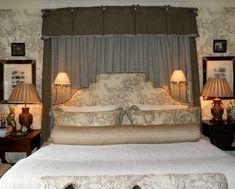 Mark Phelps Interiors, Master Bedroom, Bed Hanging, Brunschwig & Fils, MarkPhelpsInteriors.com , Charlotte,NC