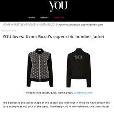Uzma Bozai - bomber jacket featured on you.co.uk