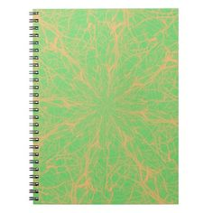 Lime Maze Notebooks #colors #lime #orange #maze #notebook #zazzle $14.95