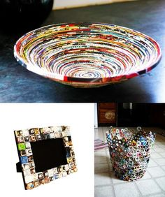 100+ Ways to Creatively Reuse Old Magazines - i think a coat of paint would help some of these ideas! #recycling