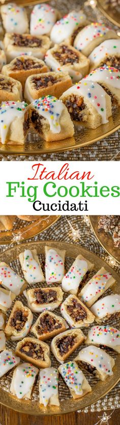Italian Fig Cookies, Cucidati, Sicilian Fig Cookies, or Christmas Fig Cookies are a few of the names you might come across when looking for this deliciously moist, tender and sweet, fruit filled cookie. www.savingdessert.com