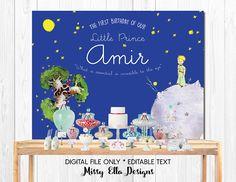 The Little Prince Backdrop / Le Petit Prince Birthday Party Backdrop // Dessert Table Backdrop // Baby Shower // Baptism // Digital File