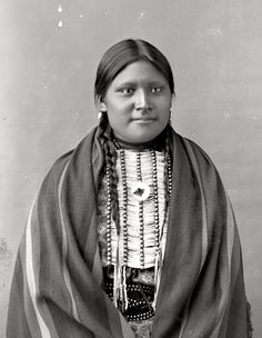 White Cow Walking. Sioux. Chief Sitting Bull's daughter. 1880s.