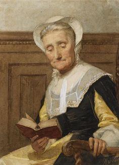 Nicolaas van der Waay - Lezende oude dame