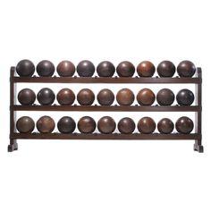 lignum vitae bowling ball rack (heartwood) - usa - c1890-1910