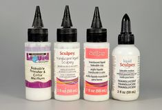 Understanding Sculpey's Liquid Clay Brands - The Blue Bottle Tree Polymer Clay Tools, Sculpey Clay, Polymer Clay Charms, Polymer Clay Jewelry, Ceramic Jewelry, Paper Mache Clay, Diy Clay, Clay Crafts, Plastic Canvas Tissue Boxes
