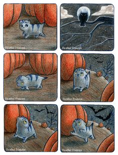Scaredy Cat | Heather Franzen ~ Art and Ilustration