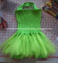 Tutorial: Tinkerbell costume for a little girl