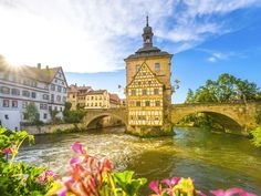 Though not technically on Germany's Romantic Road, Bamberg still fits the bill—and deserves a detour. The UNESCO World Heritage town sprawls across seven church- or castle-topped hills, and is bisected by several picturesque rivers and canals. We suggest spending your days exploring its Romanesque cathedrals, strolling down its romantically lit cobbled streets, or enjoying a pint of Bamberg's famous smoked beer in one of the town's microbreweries.