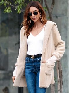 To find out about the Pocket Side Hooded Teddy Coat at SHEIN, part of our latest Outerwear ready to shop online today! Coats For Women, Clothes For Women, Teddy Coat, Winter Looks, Winter Style, Types Of Sleeves, Outerwear Jackets, Men's Jackets, Fashion News