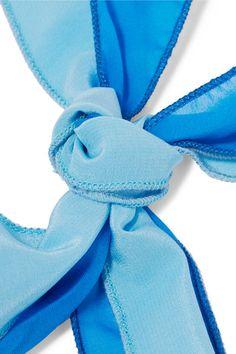 Rosantica - Yucatan Gold-tone, Quartz, Silk-chiffon And Wood Necklace - Blue - one size