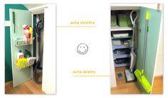 sorriso a 365 giorni: Paroladordine: organizzare il (mini) ripostiglio - sfrutta la superficie interna delle ante per avere a portata di mano quel che usi più di frequente