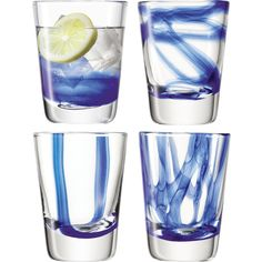 LSA Cirro Blue Set Of 4 Tumblers